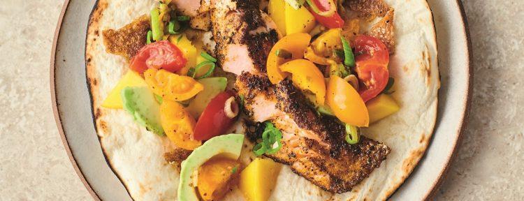 Crispy zalmtaco's Jamie Oliver - Gezond aan tafel - recept