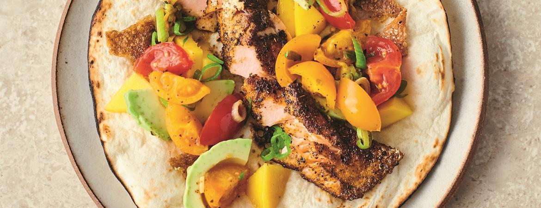 Crispy zalmtaco's (Jamie Oliver)