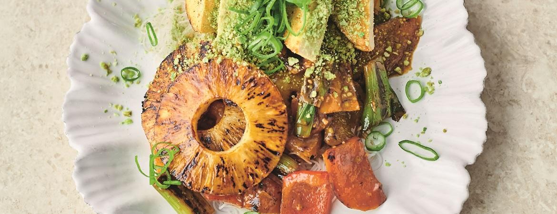 Sticky paprika met miso (Jamie Oliver)